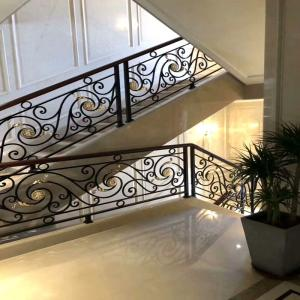 China PEDEL  Europe type restoring ancient ways aluminum alloy shabili wooden handrail stair railing on sale