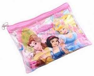 China Colourful cartoon printed PVC vinyl plastic ziplock bags for student stationery on sale