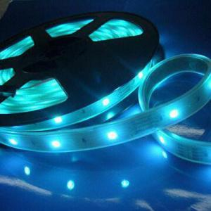 China PVC Waterproof Blue LED Strip Lighting 24V, Flexible Strips For Business Office, Advertising on sale