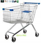 Большие 4 катили магазинные тележкаи супермаркета с подгонянным логосом на ручке 160L