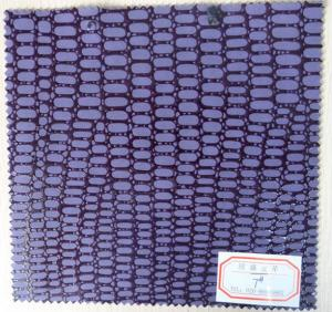 China Abrasion Resistance Purple Color Artificial Leather Cloth for Belt, Bag, Shoes on sale