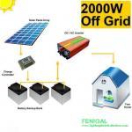 2kw Off Grid Apartment / Villa Solar Pv Energy System