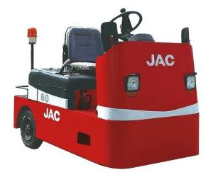 China 4 Wheel Platform Truck , AC Power System , 6000KG Traction Weight , JAC Electric Tow Vehicles , High Performance on sale