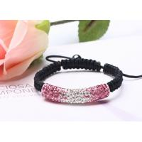 China Pink Bracelet Multiple Shiny Crystal Paved Shamballa Bead Bracelet NP10019 on sale