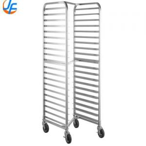 China 15 Layer 30 Pans Alloy Baking Tray Trolley Rack With Wheels Strong Bearing on sale