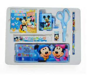 China Cartoon Stationery set contain scissor pencil earser notebook ruler pencil sharpener on sale
