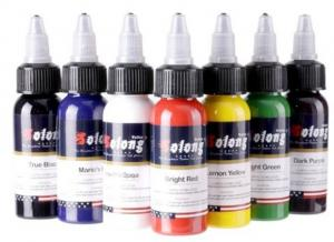 China New design 7 Basic Colors Tattoo Ink Set Pigment Kit 1oz (30ml) Professional Tattoo Supply for Tattoo Kit on sale