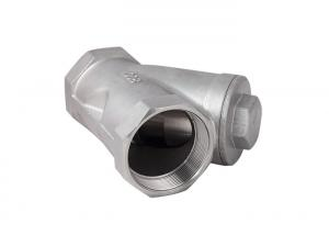 China BSPT Connection Industrial Check Valve Screwed Cover Y Type Check Valve 800 WOG CF8M material DN65 on sale