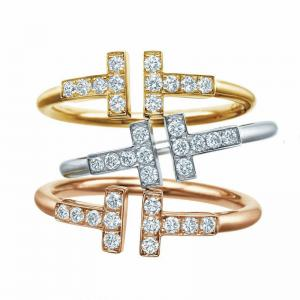 China Hot new fashion elegant jewelry women charms gold silver ring on sale
