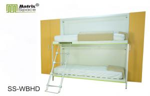 ... Quality Wood Space Saving Hidden Single Murphy Wall Bed Bunk Bed With  Ladder For Sale