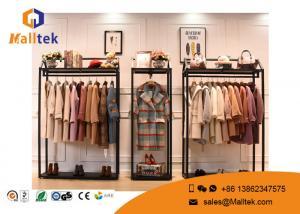 China Luxury Clothing Mall Garment Display Racks Retail Garment Racks And Displays on sale
