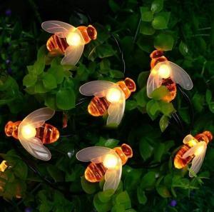 China 2M Solar Powered String Garden Lights, 20LED Honey Bee Solar Powered Led String Lights on sale