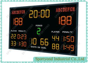 China LED Hockey Scoreboard , Handball Electronic Scoreboard With Wireless Console on sale