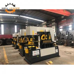 China Multifunctional Hydraulic Ironworker Machine With Plc Touch Screen Control System on sale