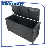 KD Style Resin Wicker Outdoor Patio Sets Poly Rattan Storage Bin With Wheels