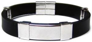 China Ímã de aço inoxidável, íon negativo, bracelete do silicone da energia do infravermelho distante com borracha on sale