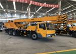 Double Lifting Hoists Hydraulic Truck Mounted Crane 70km/H Driving Speed