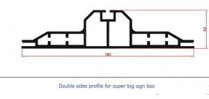 China la taille maximum d'extrusion d'affichage caisson lumineux Frameless en aluminium de profils de grand peut être forgóoszlop de 2 x3m Világító on sale