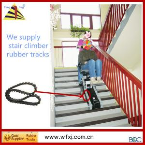 China stair climber rubber track on sale