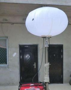 China 200W LED balloon work light balloon lighting mast system torre de luz portátil 6m portable light tower on sale