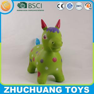 China printed large plastic inflate jumping horse on sale