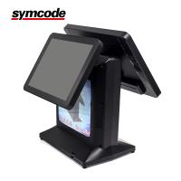 Touch Dual Screen Supermarket POS System With 2D Code Dedicated Camera