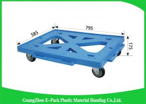 China Logistics Stackable Plastic Moving Dolly Convenience Transport Long Service Life on sale