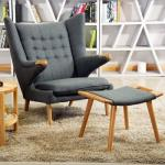 Hans Wegner Papa Bear Fiberglass Arm Chair Livingroom Use High Density