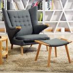 China Hans Wegner Papa Bear Fiberglass Arm Chair Livingroom Use High Density wholesale