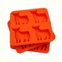 Custom FDA 4 cavity Silicone Cake Moulds , silicone chocolate molds