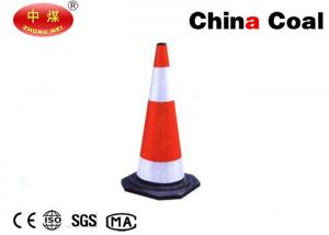 China PVC Traffic Cone JFLZ Black Base Cone Mini Plastic Road Traffic Cone on sale