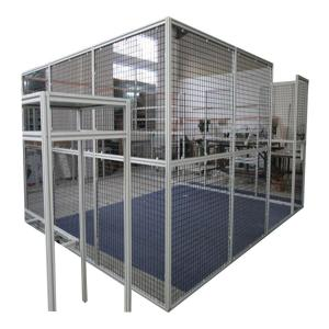 China Cnc Machine Protector Industrial Production Line Fence Cap Fixed Gear Aluminum Glass Door And Window Frame on sale