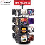Support d'affichage tournant au détail CD de livre de poches des supports d'affichage en métal de merchandisage 32