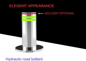 China Electric Mechanical 304 STAINLESS STEEL Automatic Rising Bollards For Anti Terrorist on sale
