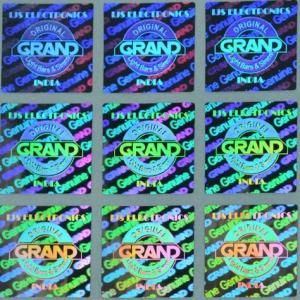 China 3D Hologram anti-counterfeit Stickers / Anti Counterfeit Label With Serial Number Codes on sale