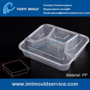 China disposable 4 compartment plastic thin wall lunch PP container and box mould on sale
