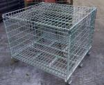 Welded steel lockable wire mesh pallet cage with cover galvanized customized size storage cage