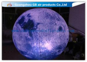 China Giant Inflatable Lighting Decoration Ground Moon Ball With LED Lights on sale