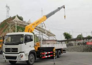 China Dongfeng LHD 6x4 15 Ton Crane Truck , Mobile Crane Truck With Telescopic Boom on sale