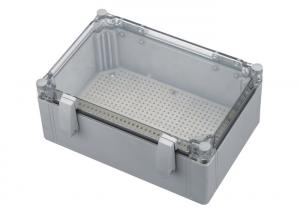 China Turnover Cover And Transparent Type Terminal Boxes Shallow Gray FJ6 / JXH-7 Series on sale