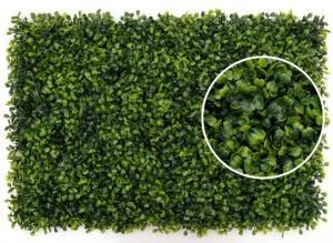 China Grape Leave Artificial Green Plants , Artificial Hedge Screening Wall on sale