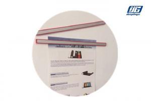 China Stripe Shape Magnetic Paper Holder , Black Magnetic Art FramesClip Holder Indoor on sale