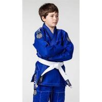 Breathable Kids Blue jiu jitsu uniform / Martial Arts Clothes with White Belt