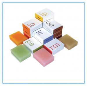 China Cusomized Printing Paper Box Packaging , Hand Made Soap Packaging Box on sale