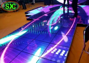 China High Brightness SMD3535 P10 Catwalk Stage Interactive Dance Floor 1/4 Scan on sale