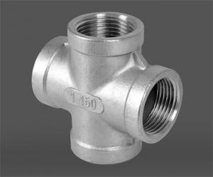 China Investment Casting ASME B16.11 SW Socket Weld Pipe Fittings Cross DN6 - DN100 on sale