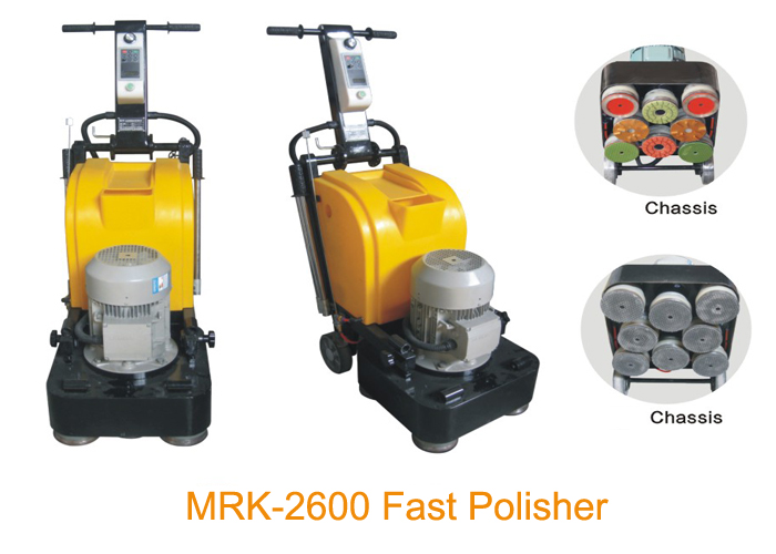 8 Heads Stone Granite Floor Polishing Machine High Speed