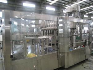 China High Viscosity Plastic Bottle Juice Bottling Machine PLC Control With Recycling System on sale