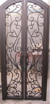 Safety Wrought Iron Double Front Door Wrought Iron Door Inserts Images