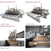 Multi heads woodworking 3d cnc wood carving router machine for furniture legs.